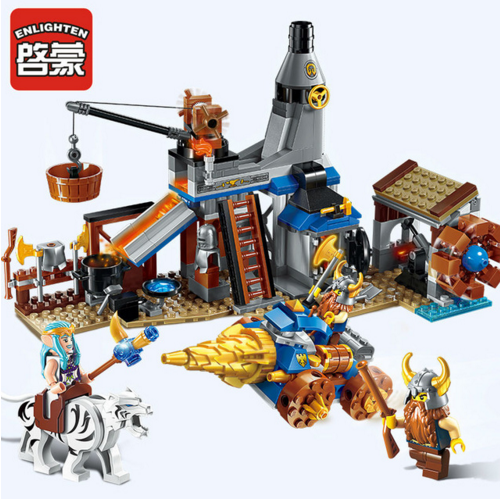 Enlighten Models Building toy Compatible with Lego E2314 368pcs Smithy Blocks Toys Hobbies For Boys Girls Model Building Kits
