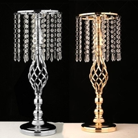 Exquisite Flower Vase Twist Shape Stand Golden Silver Wedding Table Centerpiece 52 CM Tall Road Lead