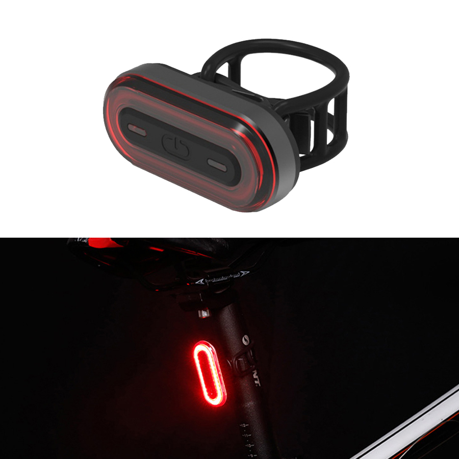 USB Rechargeable Bicycle Rear Light Cycling LED Taillight Back Lamp Flashlight For Bicycle Folding Bike Accessories Tail Light
