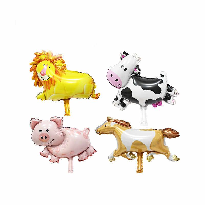 Lucky 1pcs การ์ตูนหมู Bee Cow Mini บอลลูนอาบน้ำเด็ก Ballon สัตว์ฟอยล์บอลลูนอากาศตกแต่ง Globos Baloes de Festa