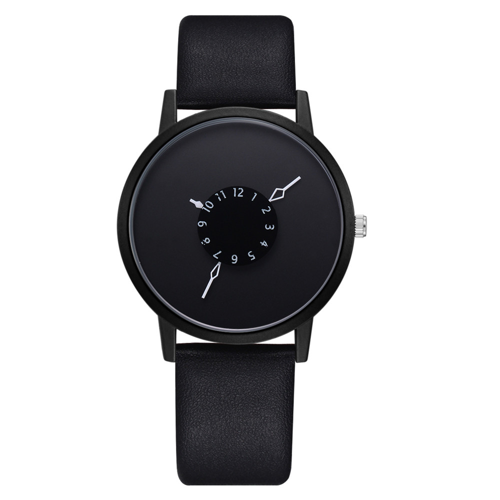 Casual Fashion Unisex Black Women men Watches High Quality U