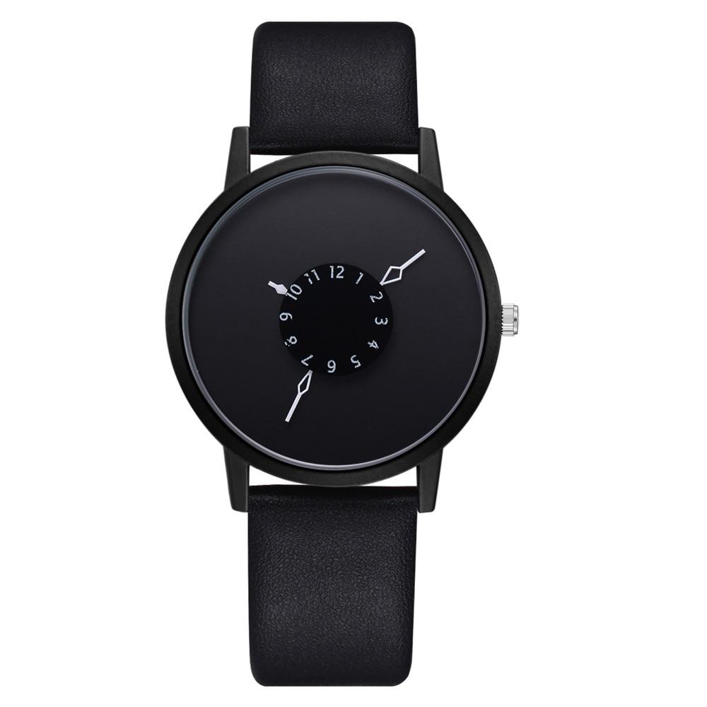 Casual Fashion Unisex Black Women Men Watches High Quality Ultra Thin Quartz Watch Woman Elegant Dress Ladies Watch Montre Femme
