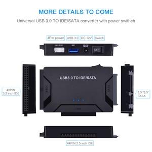 Image 4 - Адаптер CHIPAL 3 в 1 с SATA на USB IDE, USB 3,0 на SATA IDE ATA, преобразователь данных для ПК, 2,5 дюйма, 3,5 дюйма, SSD HDD + кабель питания
