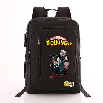 Рюкзак моя геройская академия черный