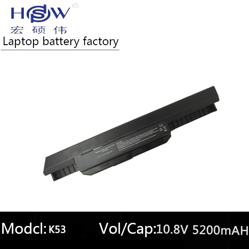 HSW laptop batteri för Asus X54S X53U X53S X53SV X84 X54 X43 A43 A53 batteri K43 K53U K53T K53SV K53S K53E K53J A53S batteri