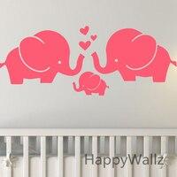 Olifanten muursticker baby nursery diy olifant verwijderbare muurstickers kinderkamer decorating kinderen dier muur decor a6