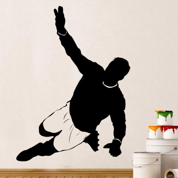 0dfcfc393a Goleiro De Futebol Bola de Futebol Estrela Esboço Do Casamento Decor Wall  Decal Papel De Parede