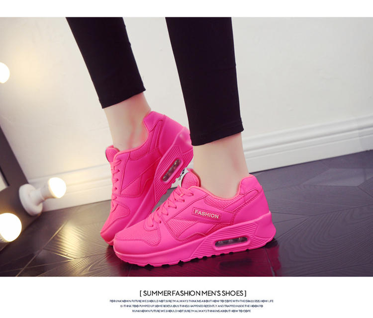18 Fashion Sneakers Women Shoes Spring Tenis Feminino Casual Shoes Outdoor Walking Shoes Women Flats Pink Flas Ladies Shoes 34