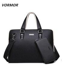 VORMOR PU Leather bag Business Men bags Laptop Tote Briefcases Crossbody bags Shoulder Handbag Men s