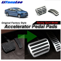 LitangLee Car Accelerator Pedal Pad Cover Foot Throttle Pedal Cover Sport Racing Model For Skoda Rapid 2011~2018 AT