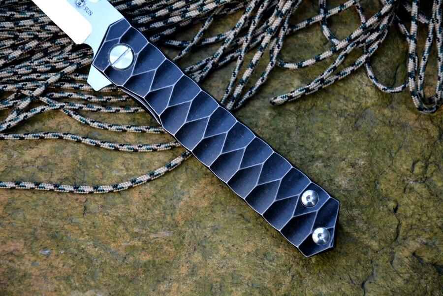TWOSUN TS20 Fold Knife D2 Tanto tera kuullaagripesur Titaanist - Käsitööriistad - Foto 3