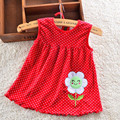 Mejor 2016 nuevo 1 unids al por menor del bebé muchachas del vestido 0-2 años ropa de algodón ropa del verano del vestido ZL5214 Factoryer