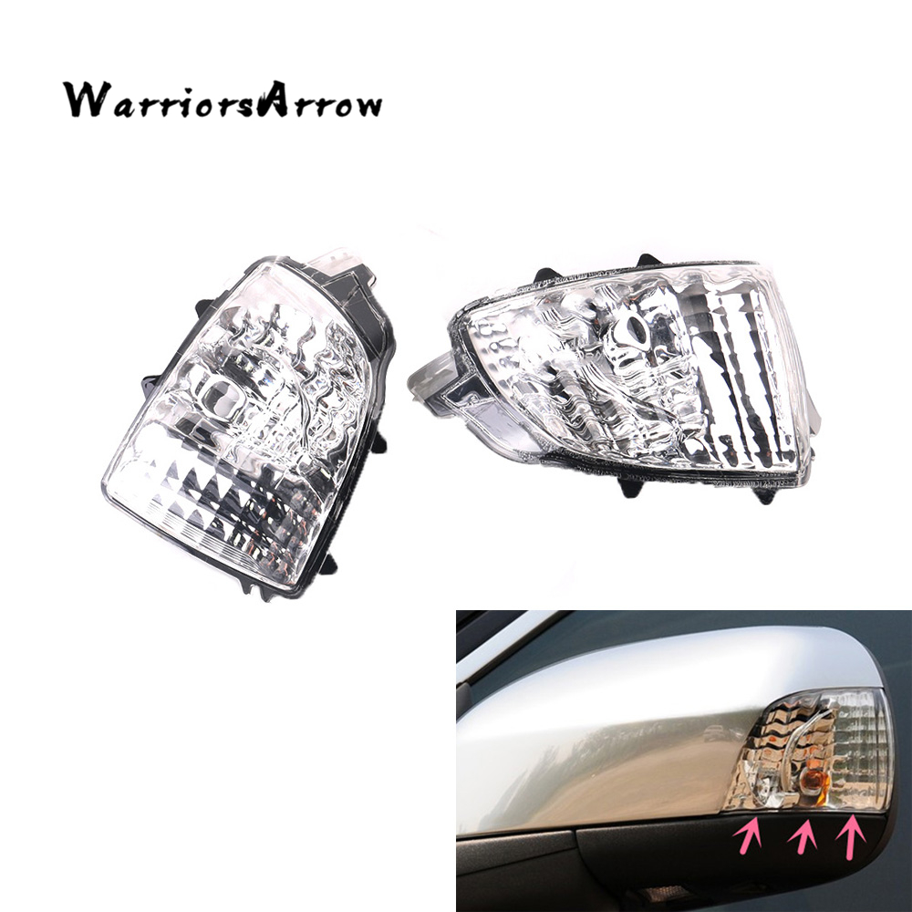 Pair Front Left Right Rearview Wing Mirror Turn Signal Indicator Light Lamp Len For Volvo XC70
