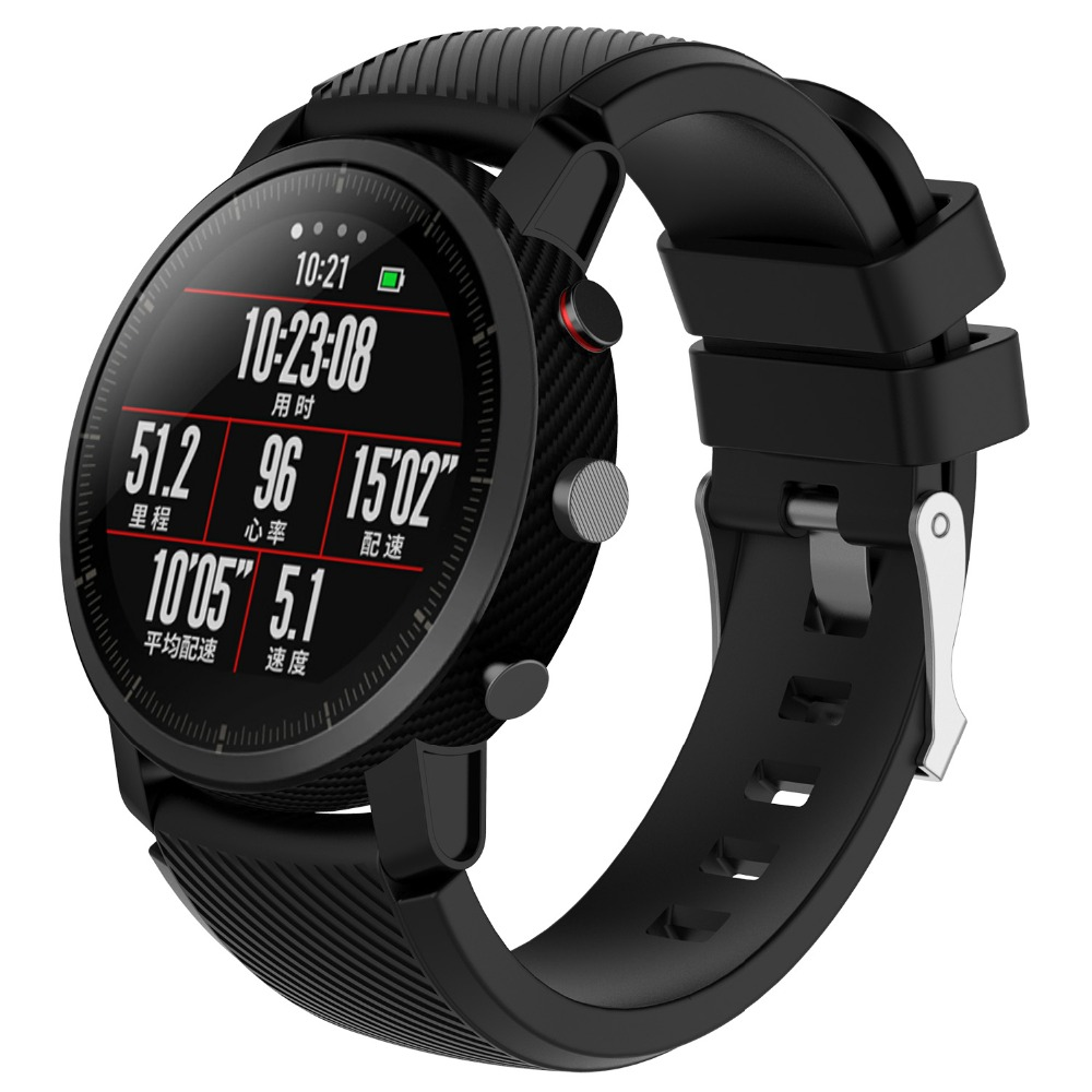 Smart Accessories for Huami Stratos strap 22mm Band for Xiaomi Watch 1 2 Huami Pace Pure Color Replacement Band