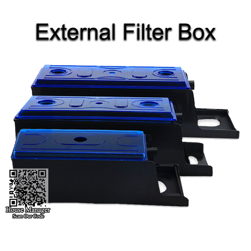 External filter box for aquarium pump adjustable length for Water pump filter box