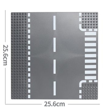 Classic City Road Street Baseplate Block Straight Crossroad Curve T-Junction DIY Assembly Building Blocks Parts Base Plate Gift 3