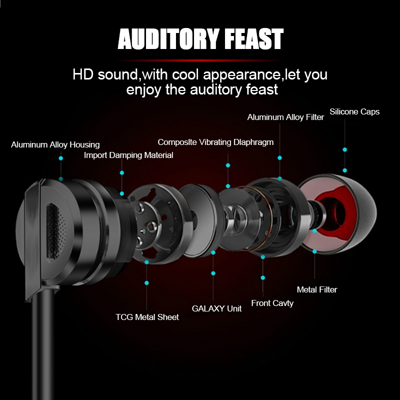 Artisome Super Bass Wired Earphone For Phone Stereo Mic Metal Earphone For iPhone Samsung Xiaomi Headphones Accessories (2)