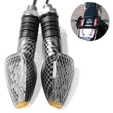 Motocicleta LED Turn Signal Indicadores Luz Motorbike Âmbar Lâmpada Luz Para Honda XL600 CBF1000 LMF/UM VT 750s VTX1300 NSR250