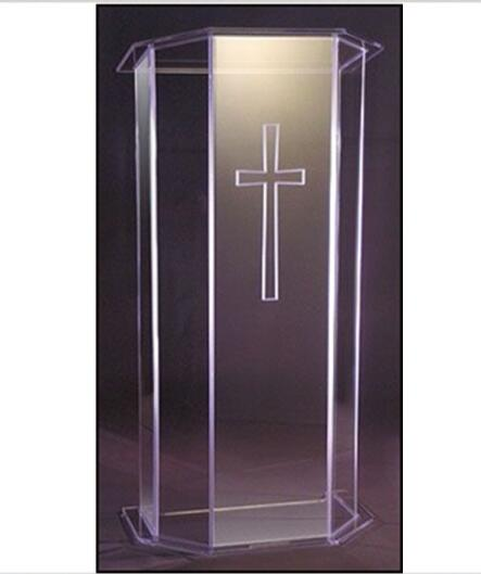 Plexiglass Material Acrylic Podium Lectern Decoration Table Furniture Plexiglass