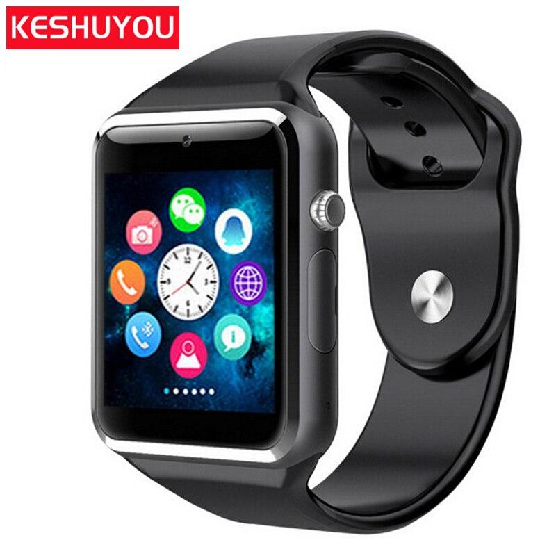 KY A1 Bluetooth astuto della vigilanza del android ios Sim Pedometro Bluetooth smartwatch donne Tf macchina fotografica Telefon Uhr Relógios non impermeabile
