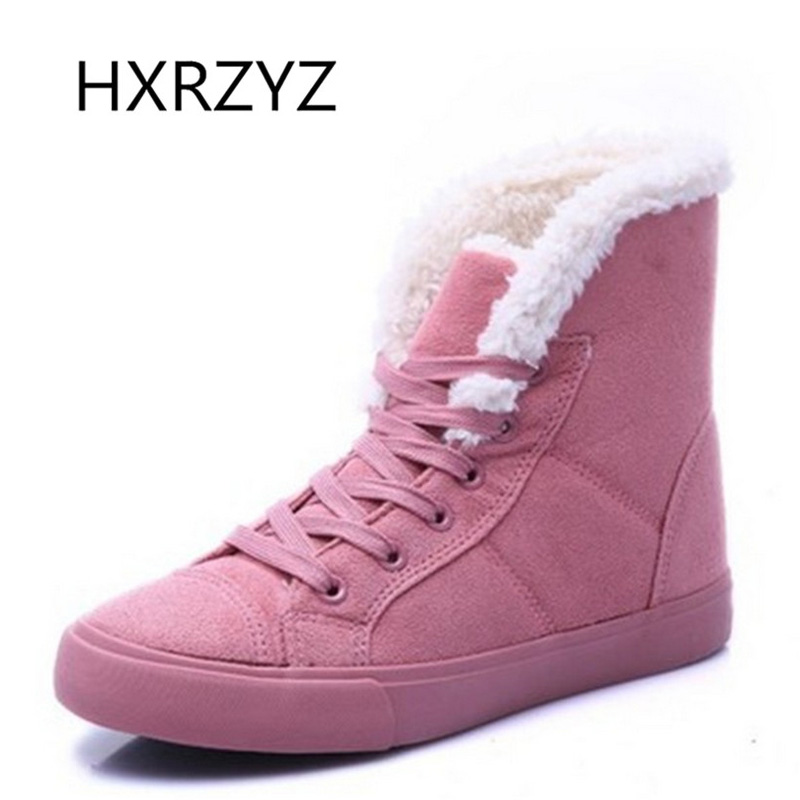 HXRZYZ Hot  fashion fur knight female warm ankle boots women boots snow boots and autumn winter women shoes size 36-40 new 2017 fashion female warm ankle boots lace women boots snow boots and autumn winter women shoes