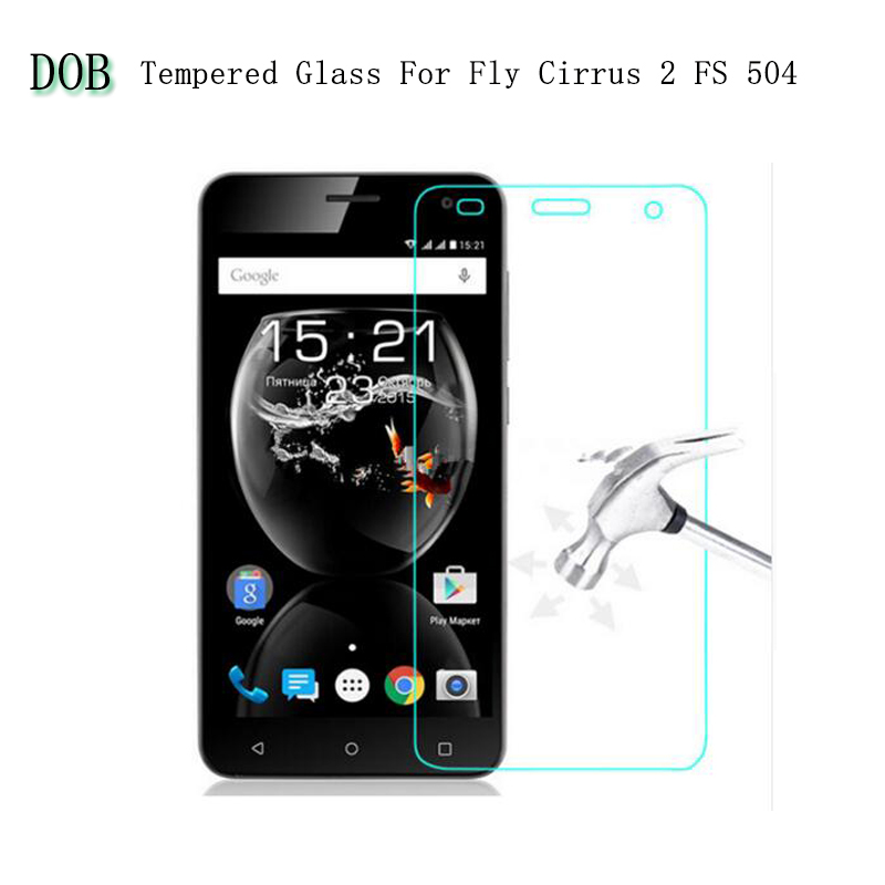 Tempered Screen Protector For <font><b>Fly</b></font> FS504 Cirrus 2 Tempered Glass Film For <font><b>Fly</b></font> Cirrus 2 <font><b>FS</b></font> <font><b>504</b></font> Phone Accessories +clean kits image