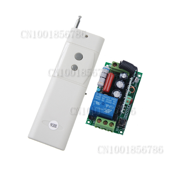 AC220V 1CH 10A Remote Control Light Switch Relay Output Radio Receiver Module 3000m Long Distance 315Mhz/433.92Mhz dc 12v photoresistor module relay light detection sensor light control switch l057 new hot