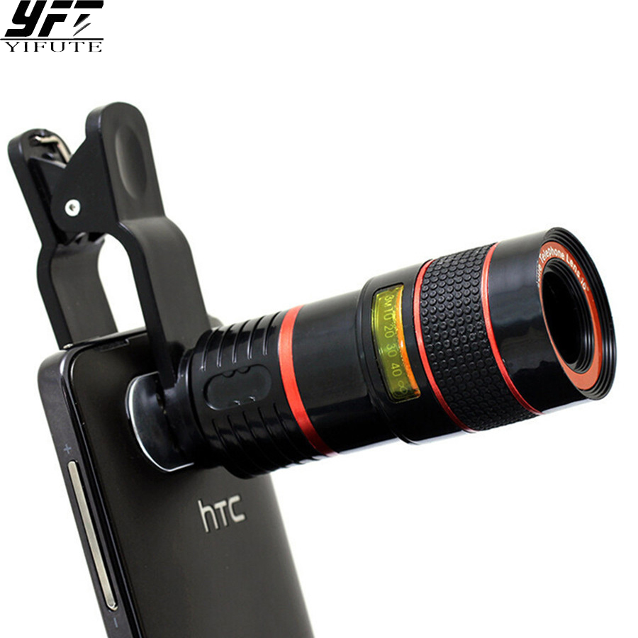 YIFUTE Lenses Universal Clip 8X Zoom Telephoto Lens HD Mobile Phone Camera Lense