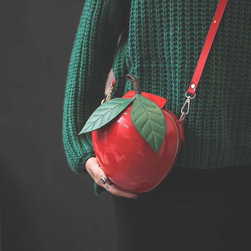 Amarte Women Apple Shaped Bag Cute Funny Women <font><b>Evening</b></font> Bag Party Wedding Clutch Purses Chain Shoulder Bag for Birthday Gift