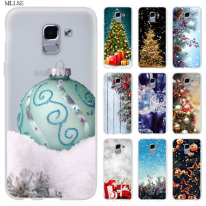 Для samsung J8 J4 J6 Plus 2018 J5 J3 J7 2017 EU CORE Pro 2018 Prime чехол для телефона счастливый новый год веселая новогодняя елка; Снег хлопья