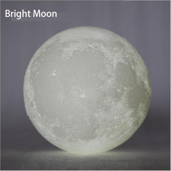 Лунный свет по 3D печать, с сенсорным зондирования переключатель ночник с 8/20 см Диаметр, pla материала, бесплатная доставка
