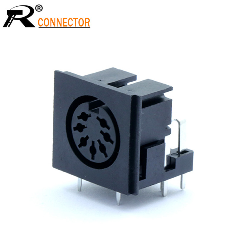 1pc S Terminals Micro Power Socket 7PIN DIN Jack Video Connector PCB Panel Mount Female Conector