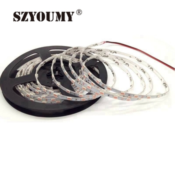 SZYOUMY DC12V 60Leds/m White / Black PCB SMD 5630/5730 Flexible LED Strip light 5mm Width IP65 Waterproof LED Diode Tape La