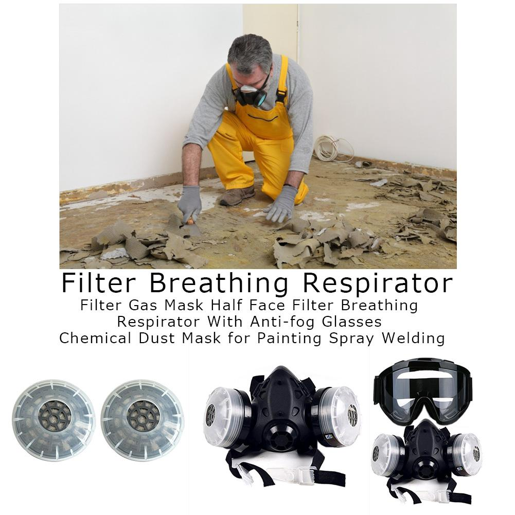 HTB1tpajXUz1gK0jSZLeq6z9kVXau In stock! Half Face Gas Mask With Anti-fog Glasses N95 Chemical Dust Mask Filter Breathing Respirator For Painting Spray Welding