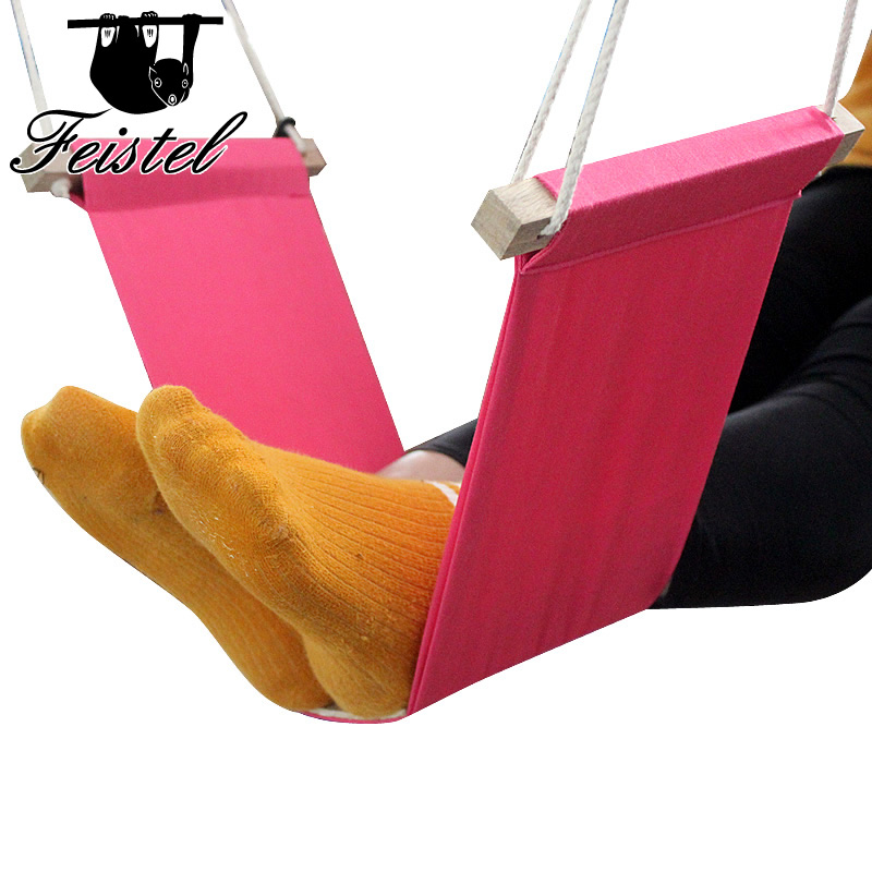 Work Table Computer Desk Footrests Mini Portable Comfortable Relaxing Leg Hammock Adjustable Office Footrest Foot Hammock