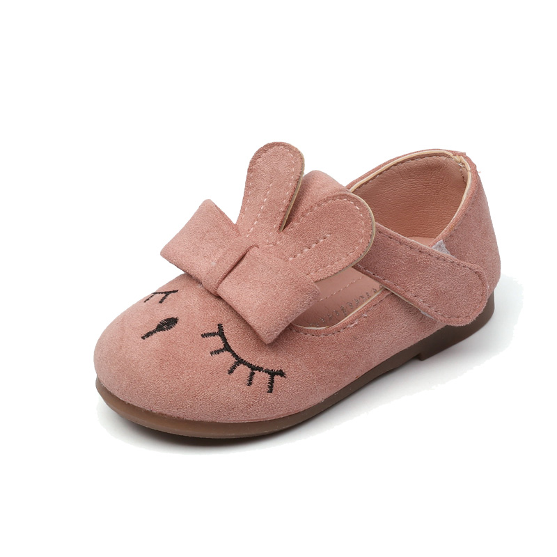 Kids Baby Girls Shoes 2018 Spring ChildrenS Shoes Cute Soft Baby Leather Shoes Rabbit Round Princess Shoes