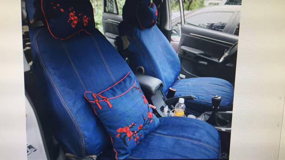 Авто чехлы на сиденья деним специально для KIA Фредди K2 K3 K4 K5 K7 k3s Cerato карнавал Optima Рио Sorento Carens sportage Cadenza