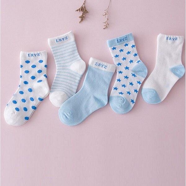 4 Pairs Baby Boy Girl Cotton Socks Newborn Infant Toddler Kids Soft Ankle Socks
