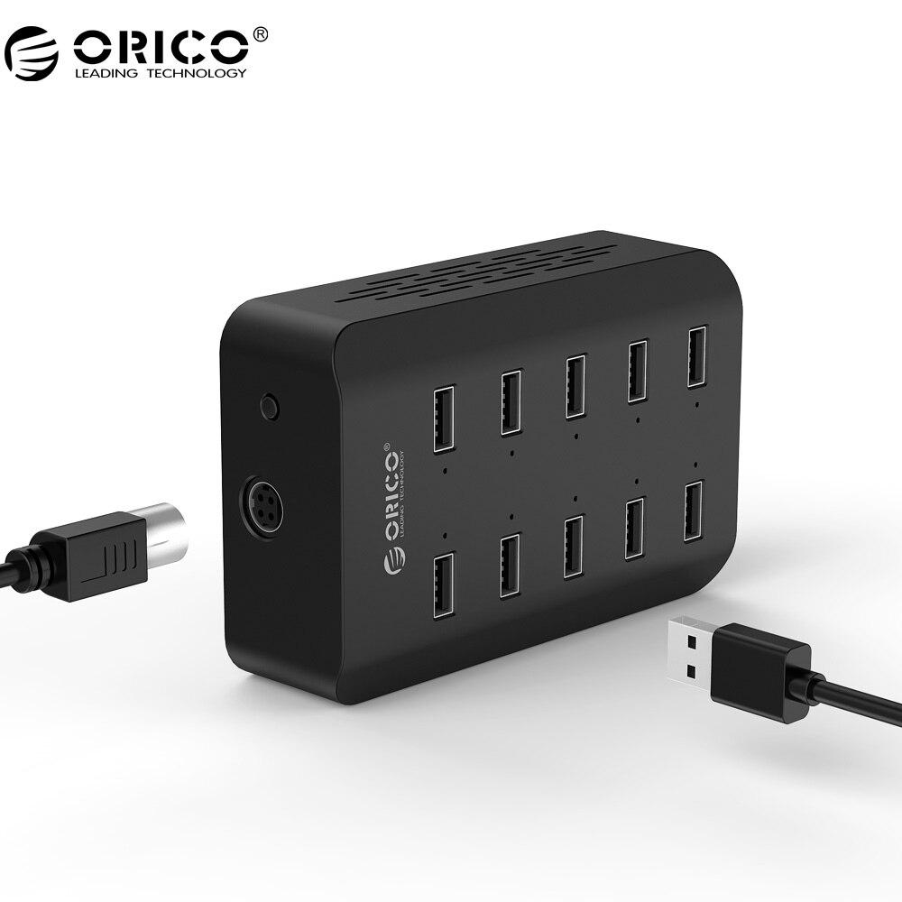 ORICO dub USB Зарядное устройство 10 Порты и разъёмы 2.4a * 10 Выход Smart зарядная станция USB Desktop Зарядное устройство для Планшеты/pc