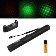 Best Buy 532nm Waterproof High Power 1mW Green+Red 650nm Laser Pointer Light  Beam+4000mAh 18650 Battery+AC Charger