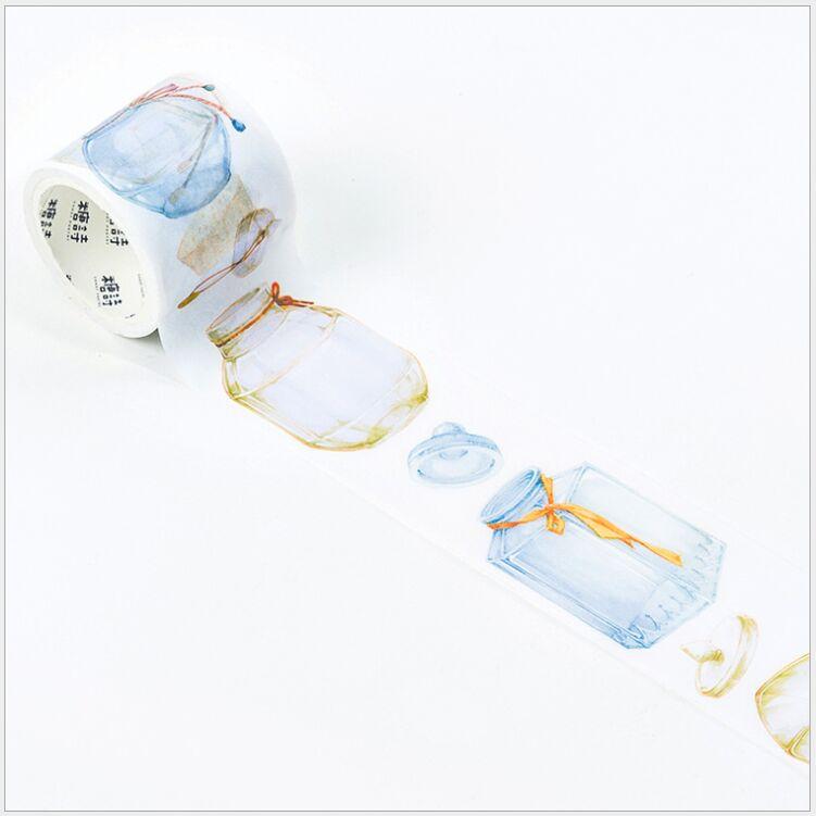 Mushroom Bottle Gilding Girl Deco Tape World Of Bottles Washi Tape Masking Tape