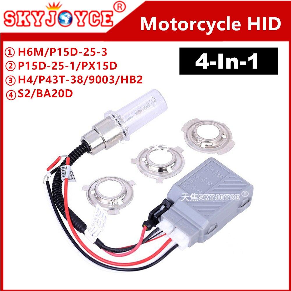 SKYJOYCE H6 H6M Motor Motorcycle Scooter motor bicycle headlight P43T H4 Hi  Low Bulbs 4300K6000K8000K3000K BA20D hid xenon-in Car Headlight Bulbs(LED)  from ...