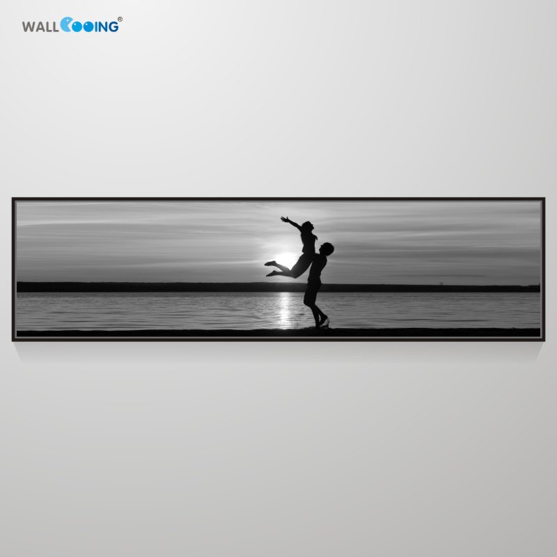 2019 New Product Calligraphy Big Canvas Sea Bedroom Wall Decorations Lovers Holding Hands Photo Picture Bedside Painting