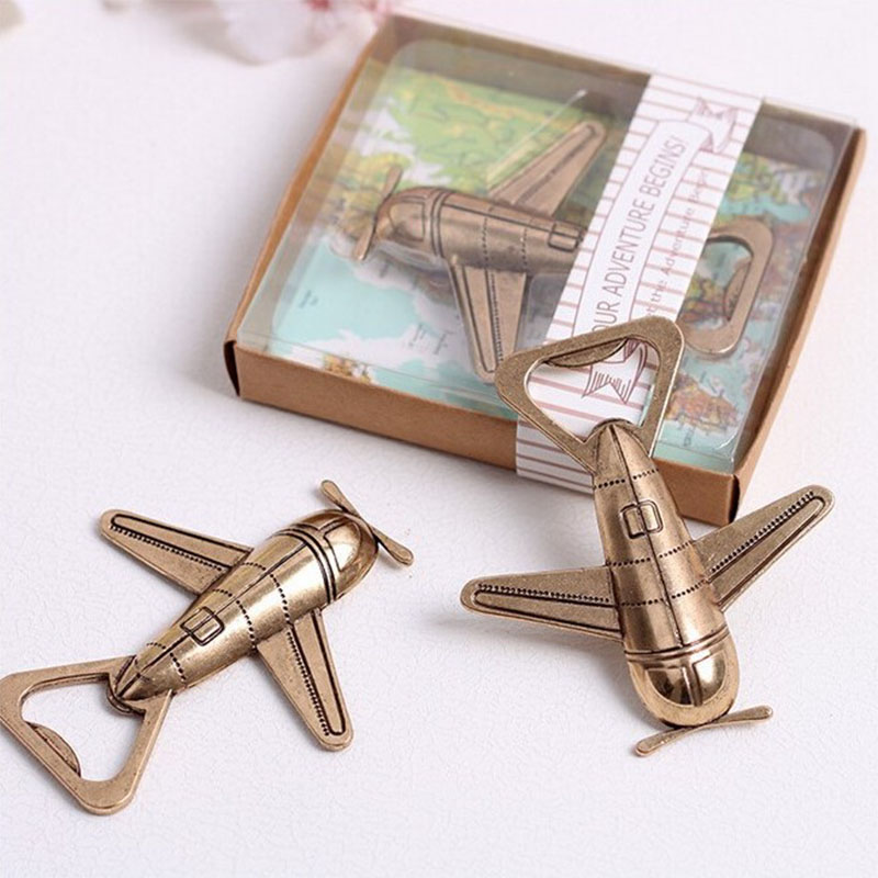 Airplane Bottle Opener Party Favors Souvenir Gifts Wedding Favour Gift for Guests Event & Party Supplies Drop Shipping