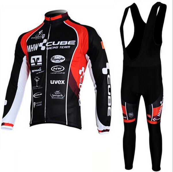 ФОТО New Cycling Jersey Long Sleeve Racing Bike cube Cycling Clothing MTB Cycle Clothes Wear Ropa Ciclismo Sportswear