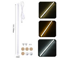 32/52CM USB LED Rigid Bar Lights Portable Hard LED Strip Lamp with Switch Night School Reading Book Desk Lighting Bulb
