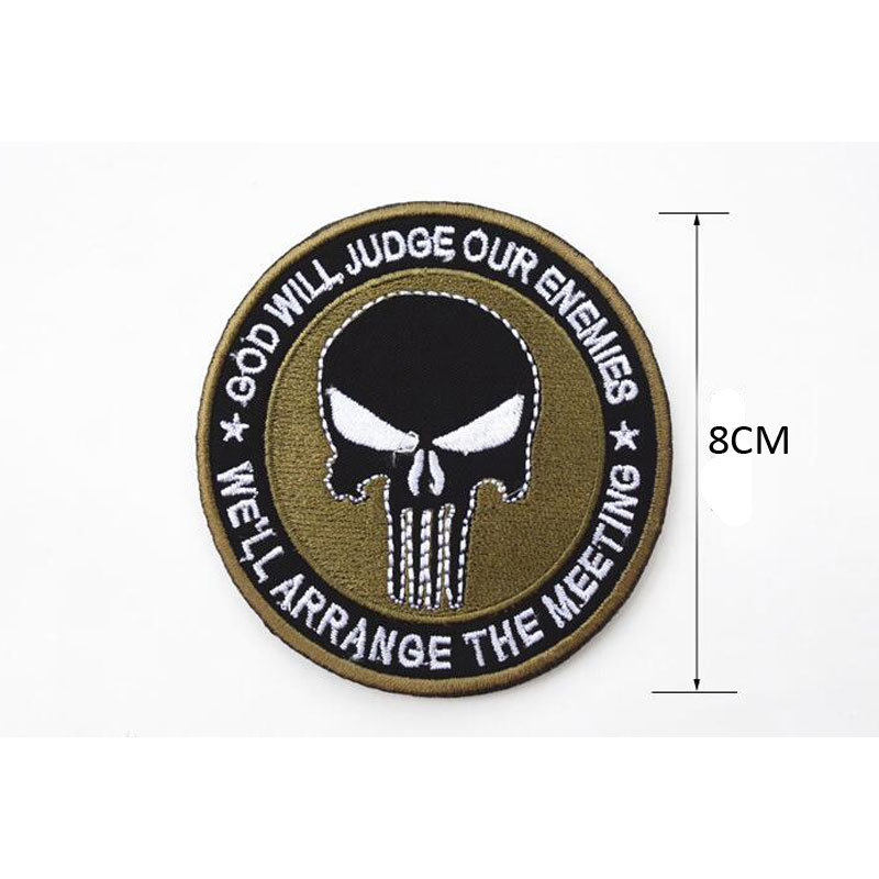 Special Price New Punisher Army Tactical Backpack Embroidery Armband Personalized Military Badge Apparel Hat Fabric Selling Well All Over The World Apparel Sewing & Fabric Home & Garden