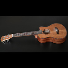 SevenAngel 23 inch Concert Mahogany Ukelele Missing Angle Ukulele Hawaiian 4 Strings Guitar Electric Uku  with Pickup EQ