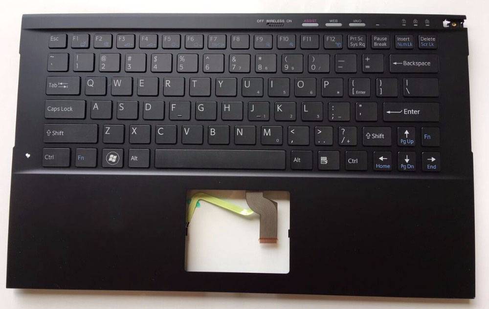 New for Sony vaio PCG-41312L PCG-41313L PCG-41315L PCG-41316L Palmrest English US laptop backlit keyboard touchpad case black new for sony vaio svf142190x svf14213cx svf14211clb svf14213clb 14 0 laptop palmrest english us keyboard black non backlit