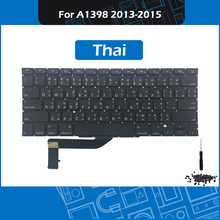 New Laptop A1398 Replacement keyboard Thai Layout For Macbook Pro Retina 15-inch Thailand keyboard Late 2013 Mid 2014 Mid 2015